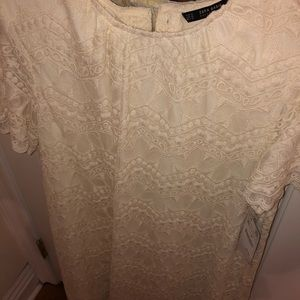 Zara Lace/Cream Dress